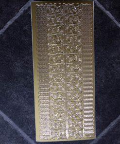 Stickers / Hjørner og kanter i guld