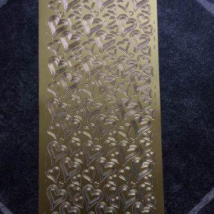 Stickers pynt / Hjerter i guld