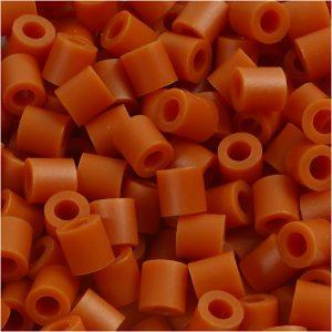 NABBI medium rørperler i farven rødbrun