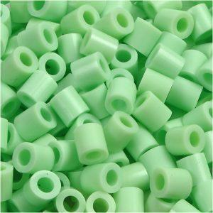 NABBI medium rørperler i lyse grøn