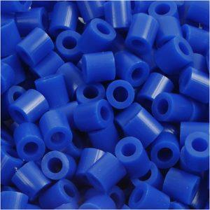 NABBI medium rørperler i kobolt blå
