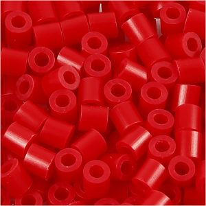 NABBI medium rørperler i rød