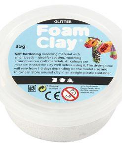 Foam Clay i hvid glitter.Modellering