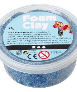 Foam Clay i blå.Modellering
