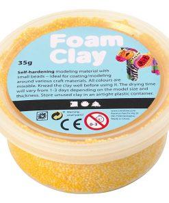 Foam Clay i gul.Modellering