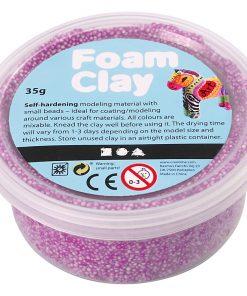 Foam Clay i lilla.Modellering