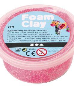 Foam Clay i pink.Modellering