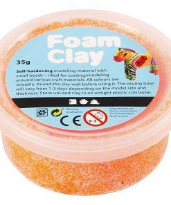 Foam Clay i orange.Modellering