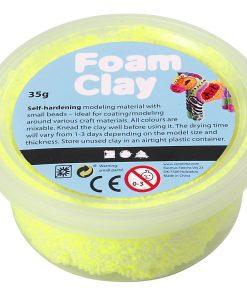 Foam Clay i neon gul.Modellering.