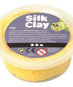 Silk Clay i gul til modellering/40 g