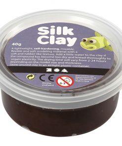 Silk Clay i brun til modellering/40 g