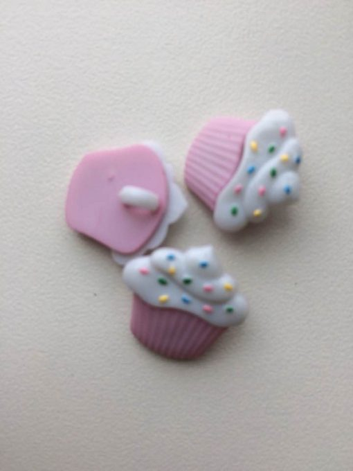 1 stk. lille sød cupcake knap