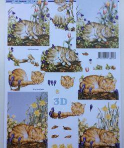 Dyr / 3d Ark /Bedårende katte der sover