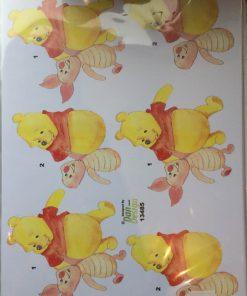 Børn/3d ark med søde grisling og Peter Plys