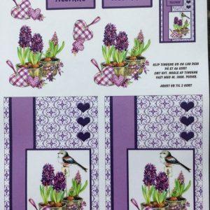 Blomster/3d ark med smukke hyacinter/Quickies