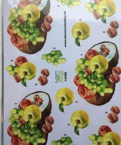 Blomster/3d ark med lækker frugt