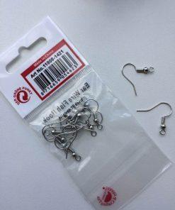 Ørewire-fiskekrog øreringe i sølv