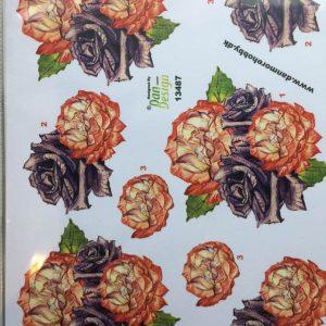 Blomster/3d ark med smukke roser