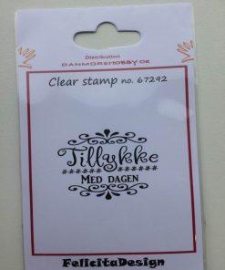 Stempel Clear Stamp Felicita Design (Tilykke Med Dagen)