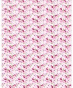 Castello/Papir med lyserøde roser