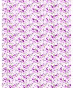 Castello/Papir med flotte lilla roser