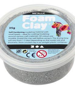Foam Clay i sølv. Modelleringsmateriale/beklædning