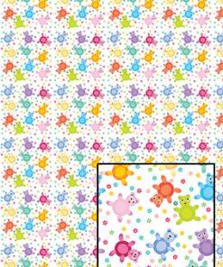 Castello/Papir med bamser i pige farver