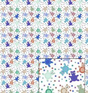 Castello/Papir med bamser i drenge farver