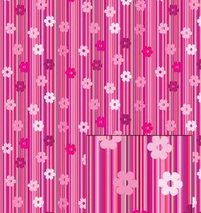 Castello/Papir/Lyserøde striber med blomster