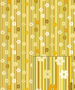 Castello/Papir/Lysebrune striber med blomster