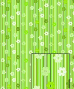 Castello/Papir/Lysegrønne striber med blomster