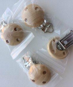 Seleholder / Sutteholder i træ med metal klemme.