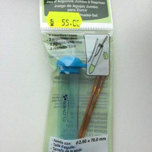 Blå Hylster med 2 nåle / med et bøj