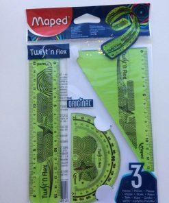 Maped Lineal-sæt/Twist'n flex/Grøn