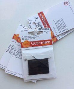 Magic Stretch i sort / perlesnor fra Gutermann