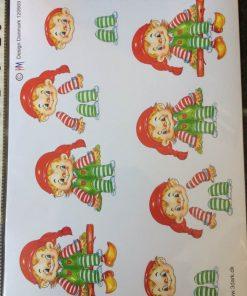 Jul/3d ark med en lille sød drillenisse/juleark