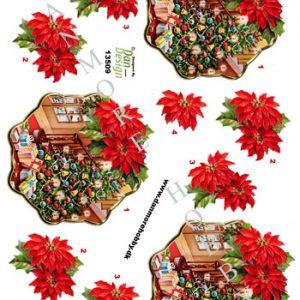 Jul/3d ark med juletræ,kugler og gaver/Dan-design