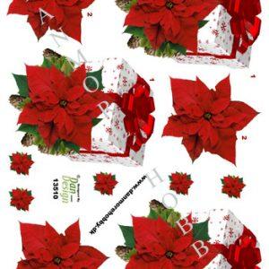 Jul/3d ark julepakke med julestjerne/Dan-design