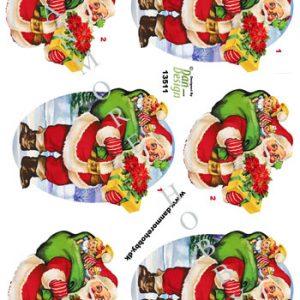 Jul/3d ark julemand med gaver/Dan-design