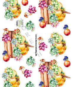 Blomster/3d ark med frugt og blomster/Dan-design
