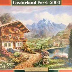 Puzzlespil/2000 brikker/alpehytte