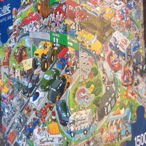Puzzlespil/1500 brikker/Trafik proppen