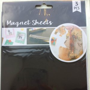 Magnet sheets i sort / 0,4 mm / A5 str