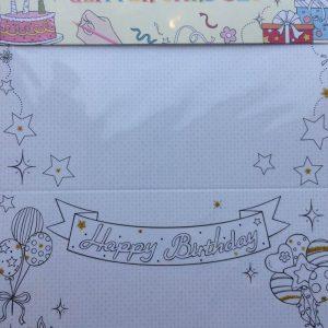 Mal mig kort sæt fødselsdag (4kort+4 kuverter)