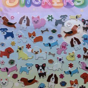 Stickers med vildt bedårende hunde
