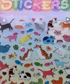 Stickers med vildt nuttede katte