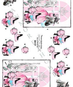 Blandet/3d ark med pigepåklædning/Dan-design