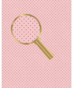 Castello/Papir med brune prikker på lyserød baggrund