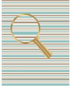 Castello/Papir med striber i blå og brune farver