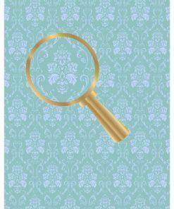 Castello / Papir med gammeldags tapet i blå